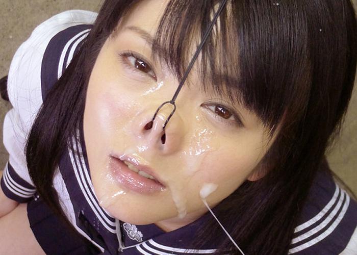 【ぶっかけエロ画像】鼻フックで豚顔された女に大量ぶっかけ…酷い状況だけど可愛くね!?(*´д`*) 01