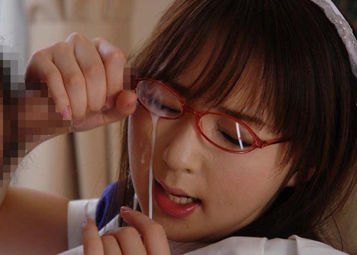 【眼鏡フェチエロ画像】眼鏡っ娘には顔射をキメるのが礼儀というのが属性持ちの流儀(▽∀▽)  01