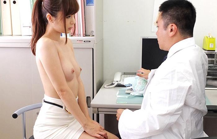 【無料エロ動画】冬月かえで 医者に聴診器当てられてスイッチが入っちゃった超絶美女