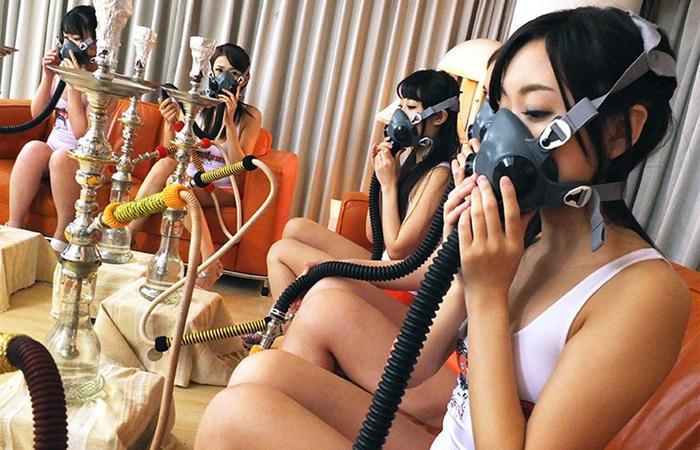 【三次エロ動画】美女6人が一斉トランス!催眠術で激イキ連発のカオスな大乱交www