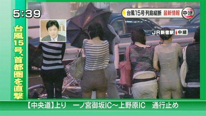 【放送事故画像】テレビでうっすら下着透けさして見せてる女達www 02
